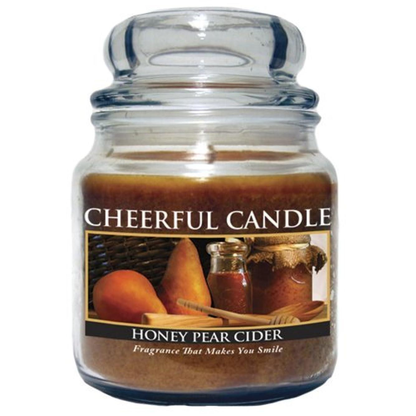スリット発症クランシーA Cheerful Giver Honey Pear Cider Jar Candle, 24-Ounce by Cheerful Giver [並行輸入品]