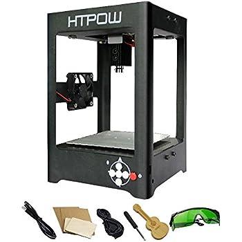 Htpow 1000mW ミニ レーザーDIY彫刻機 USB彫刻機 レーザープリンタ 卓上 軽量 USB対応 オフライン操作可能 保護メガネ付き Windows対応 ギター型USBメモリー付