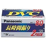 パナソニック ミニDVカセット 2巻パック AY-DVM80V2