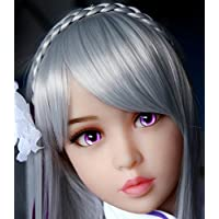 人形のための紫の目 直径33mm そして 人形の銀髪