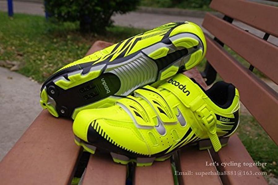 暖かく順応性のある溶けたサイクリングシューズプロフェッショナルスーパーライト男性女性fluogreen MTB_9.5_27.0cm