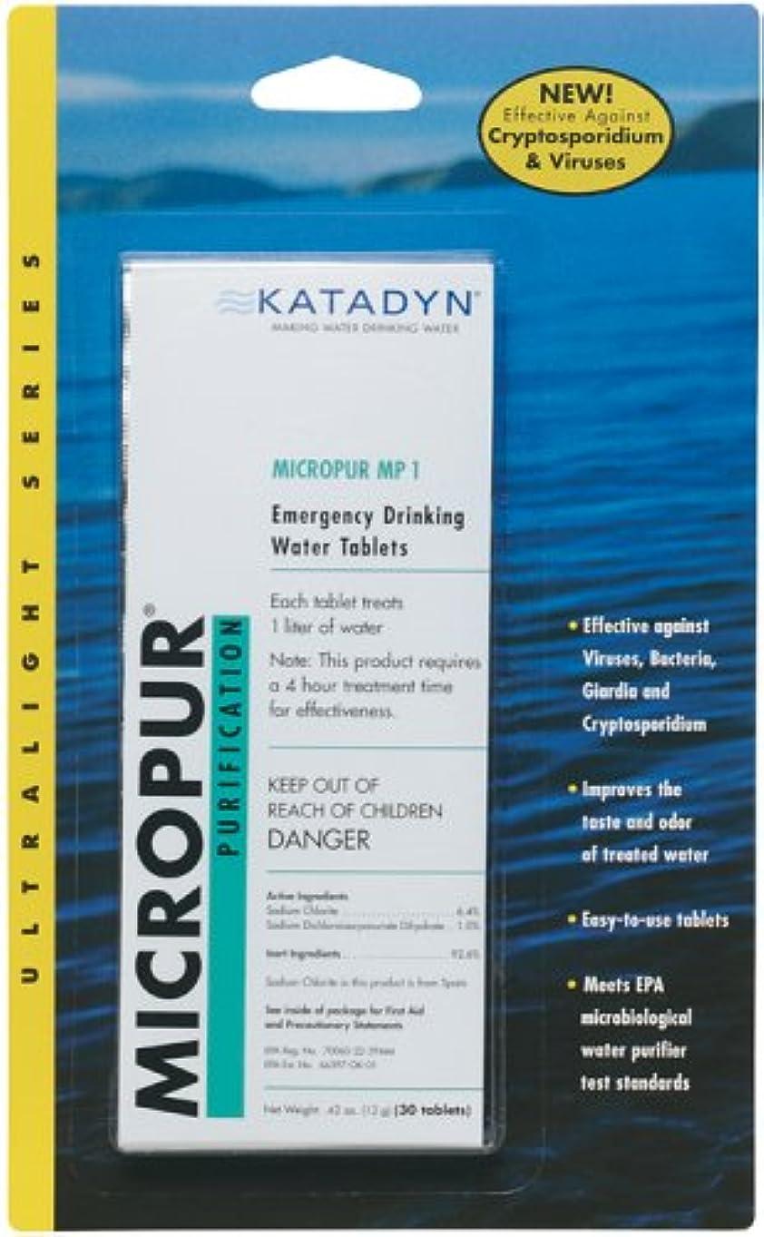 スリット気をつけて無能Katadyn Micropur MP1 Purification Tablets (20 Tablets) by Katadyn