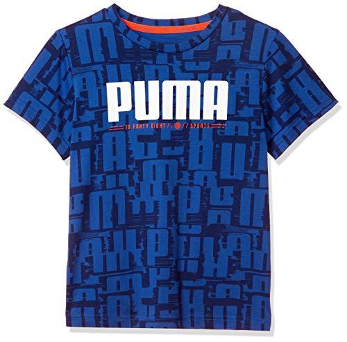 プーマ ジュニアスポーツウェア Tシャツ ACTIVE SPORTS AOP SS Tシャツ 58095339 ボーイズ ギャラクシー ブルー