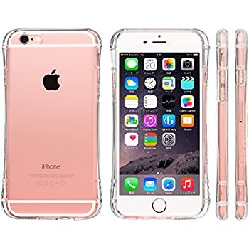 【Amazon.co.jp限定】 Highend berry iPhone6s ケース / iPhone6 ケース 4.7インチ 落下防止 用 ストラップ付き 保護キャップ 一体型 ソフト TPU ケース Arc クリア