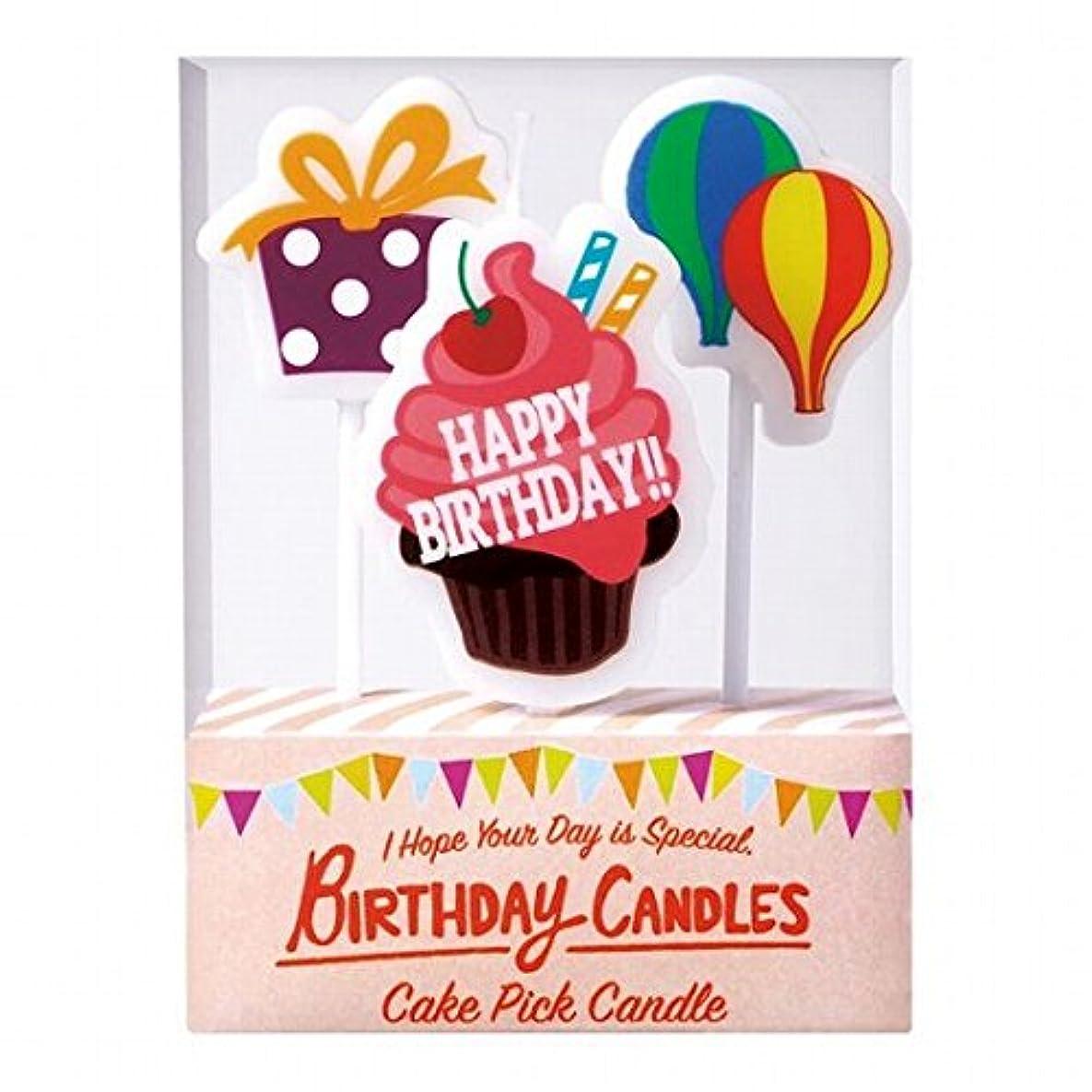 ルーキー連想思慮のないカメヤマキャンドル(kameyama candle) ケーキピックキャンドル 「 バースデー 」