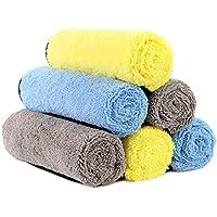 HOTOR 洗車タオル 吸水 マイクロファイバークロス 洗車職人のこだわり 洗車 家事用 掃除 ふき取り 40cm* 40cm (6枚入)