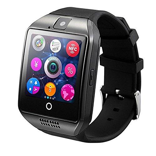 q18スマート腕時計Bluetooth防水GSM phone-color :ブラック