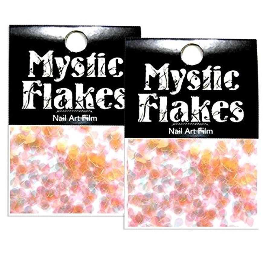 おいしい遺伝子哲学ミスティックフレース ネイル用ストーン パールオレンジ ティアドロップ 0.5g 2個セット