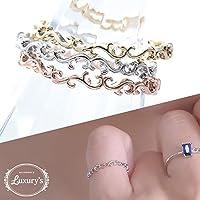 [ラグリーズ] リング 指輪 ピンキーリング アラベスク 細身 シンプル 10~11号シルバー