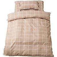 fuuka ( フウカ ) 寝具カバーセット 3点セット パチッと簡単 シングル チェック柄 ベージュ 56030105