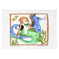 DIANOCHEキッチンPlaceマットby Marley Ungaro旅行マーメイド Set of 2 Placemats PM-MarleyUngaroTravelingMermaid1