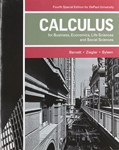 Download Calculus for Business, Economics, Life Sciences, and Social Sciences (4th Edition) 1256805017
