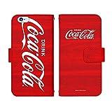 iPhone7 Plus 手帳型 ケース [デザイン:D.ビックロゴ(ウッド)] Coca-Cola コカ・コーラ アイフォン スマホ カバー