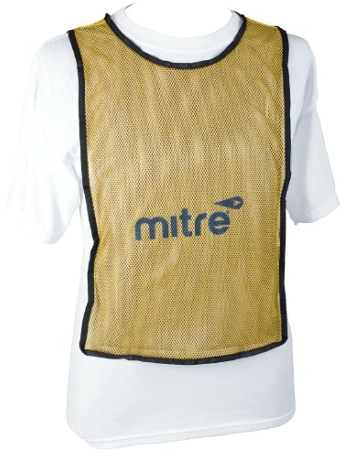 Mitre Pinnies 2 Multi-Color Training Vest (Yellow/White, 4 Pack) by Regent Sports