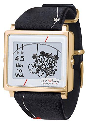 [エプソン スマートキャンバス]EPSON smart canvas ミッキー&ミニー ラブラブシリーズ ブラック 腕時計 W1-DY10330の詳細を見る