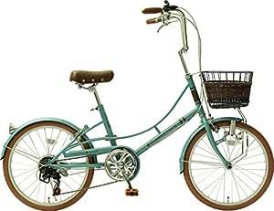 【各色100数量限定】メーカー正規品 リサとガスパール 20インチ小径自転車 シティサイクル シマノ6段変速ギア Gaspard et Lisa ノスタルジックブルー