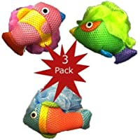 Kid's Mesh Fish Bath Sponges (Pack of 3) [並行輸入品]