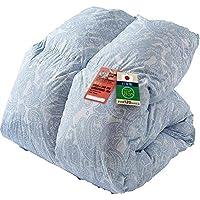 アイリスプラザ 羽毛布団 ホワイトダックダウン85% 日本製 充填量1.0kg シングルロング ペイズリーブルー