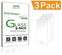 RKINC [3-Pack] 液晶保護フィルム 強化ガラス iPhone SE / iPhone5s / iPhone5c / iPhone5 ガラスフィルム 保護フィルム 0.3mm 日本製素材旭硝子使用 【硬度9H / 気泡防止】(3枚セット)