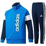 アディダス(adidas) ジュニア Boys ESS ジャージ ジャケット&パンツ 上下セット(ブルー/カレッジネイビー) DJH74-BQ6498-DJH80-BQ6455 160