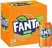 Fanta Orange Soft Drink Multipack Cans, 24 x 375 ml