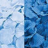 フラワーシャワー 青 1200枚 セット ブルー 2色 ブルーグラデ 結婚式 2次会 パーティー の 演出に 花びら ローズペダル