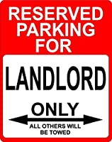 """Landlord Occupation予約駐車場のみOthers Towed飾りSign 9"""" x12""""プラスチック。"""