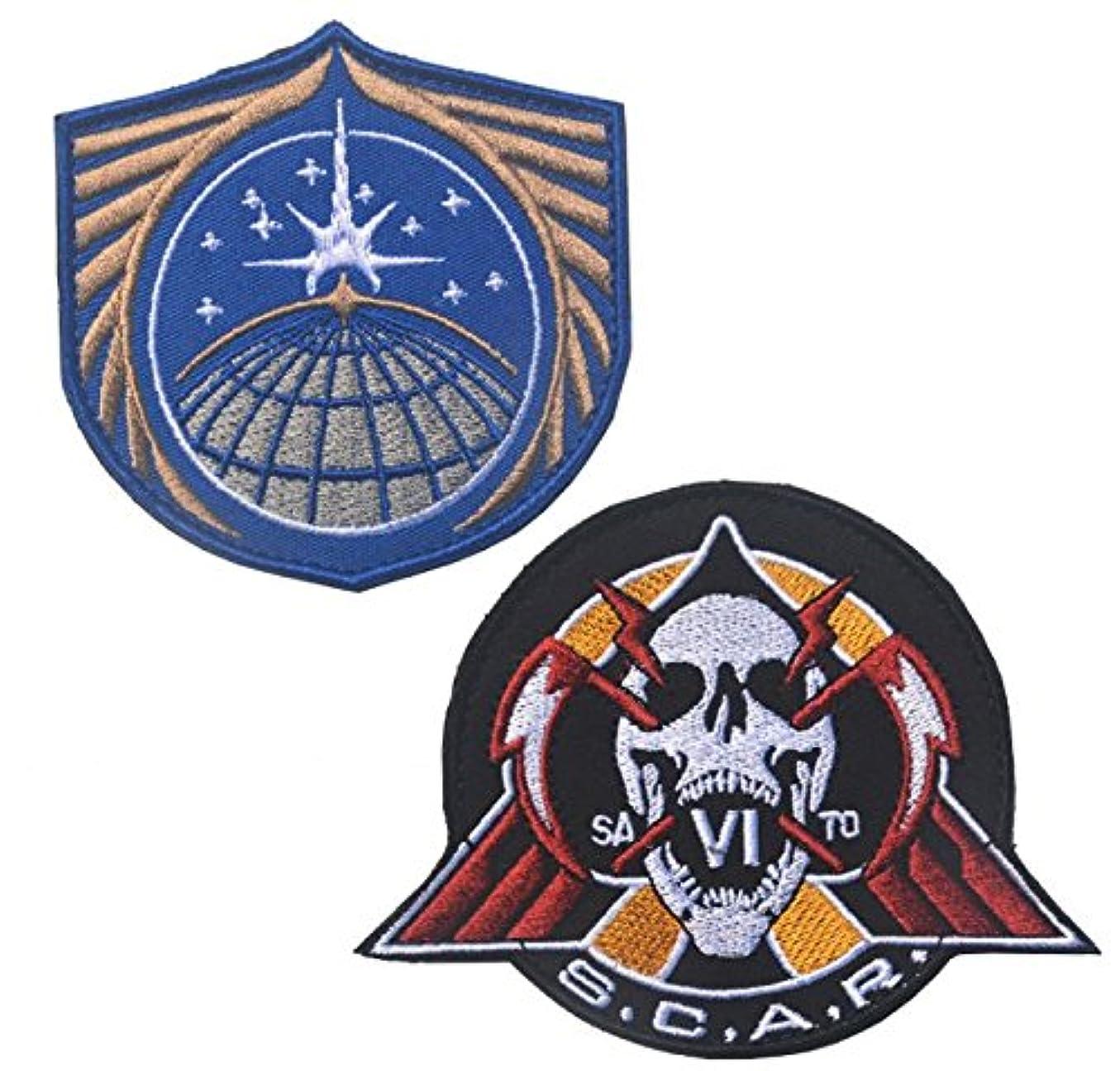 見捨てる構成する省2点セット ミリタリー ベルクロワッペン COD IW モチーフ [ UNSA + SCAR ] (S.C.A.R)
