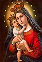 Yeele 6×8フィート 聖母マリア イエスキリスト 写真背景 マドンナ 王冠 ホーリーライト 写真背景 Belief 宗教 文化バナー デコレーション 撮影スタジオ小道具