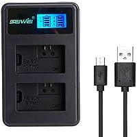 SONY NP-FW50対応新型USB充電器 LCD付 USBバッテリーチャージャー デュアルチャネルバッテリー充電器 NEX-7K/NEX-6/NEX-5N SLT-A55V/SLT-A33/ NEX-5A等対応