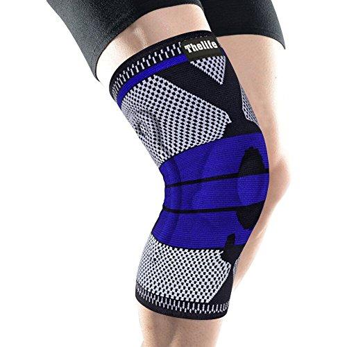 【改良版】膝サポーター スポーツ 保温 薄型 男女兼用 左右兼用 膝蓋骨固定 関節靭帯保護 3D一体縫製 通気...