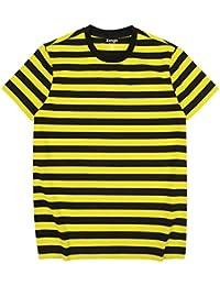 Zengjo メンズ ボーダーTシャツ 半袖 クルー ネック Tシャツ ボーダー