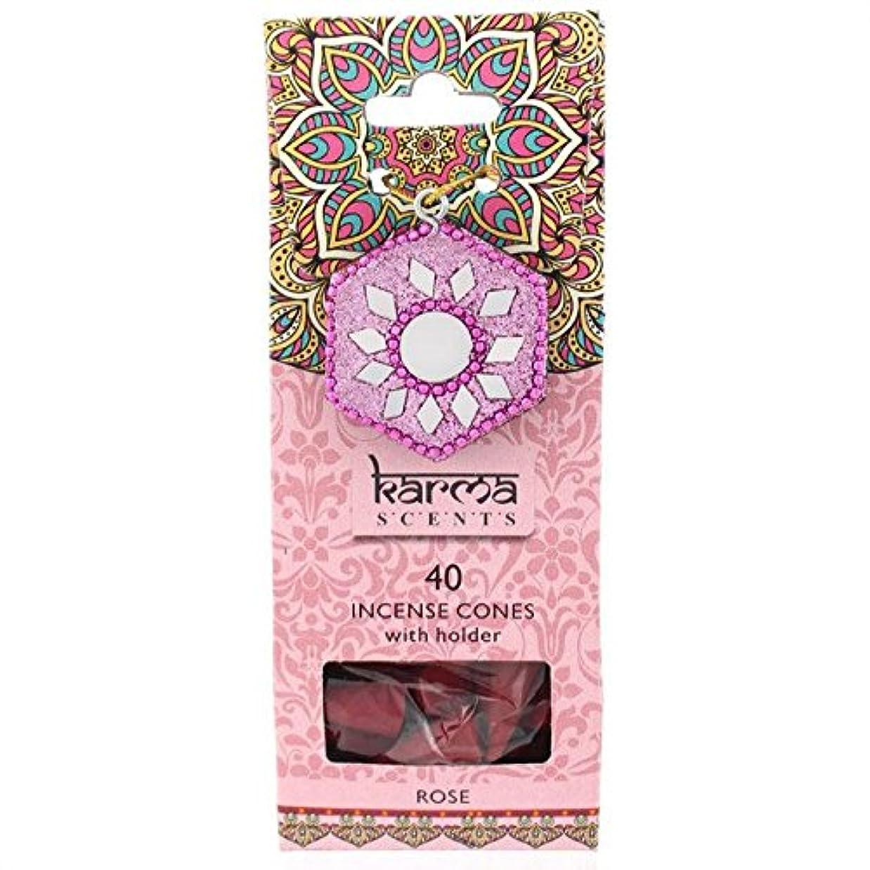 並外れて絶対の慰めKarma Rose Incense Cones Gift Set