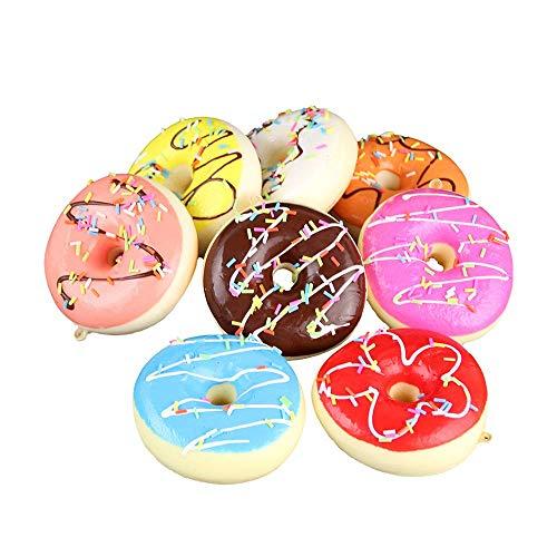 LONGPRO 食品 サンプル 詰め合わせ ドーナツ セット 子供 オモチャ 食品模型 ディスプレイ リアル 食玩 展示 販促 グッズ ままごと お店屋さん 8個セット