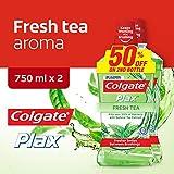 Colgate Plax Mouthwash, Fresh Tea, 750ml (Pack of 2)