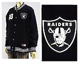 マジェスティック MAJESTIC NFL Oakland Raiders レイダース スウェットスタジャン メンズ NM23-OLR-0016BK ブラック XL