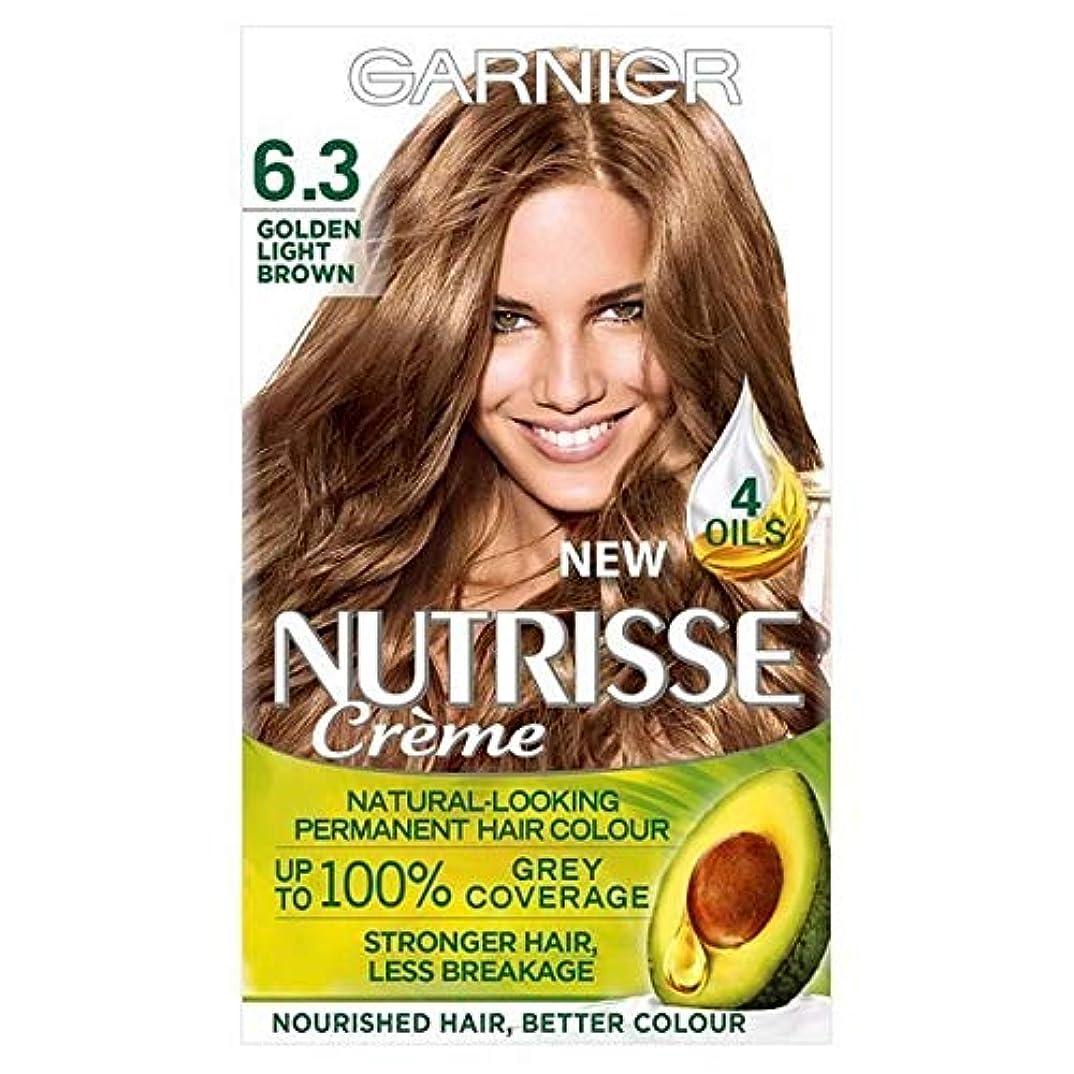 バーマド書道宿る[Garnier ] ガルニエNutrisse永久染毛剤黄金ライトブラウン6.3 - Garnier Nutrisse Permanent Hair Dye Golden Light Brown 6.3 [並行輸入品]