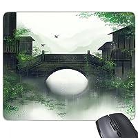 南部の季節の中国風の水彩画 長方形のノンスリップゴムパッドのゲームマウスパッドプレゼント