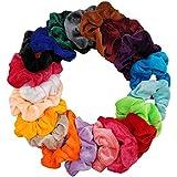 DA2S Scrunchies for Hair Velvet Elastic Ties Women PJ052T Mix 20pcs