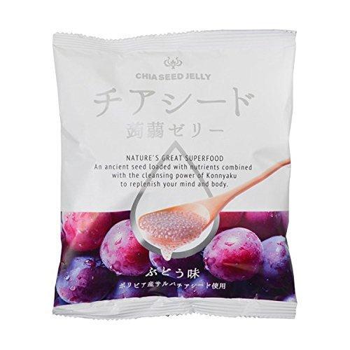 チアシード蒟蒻ゼリー 1袋10個入り 5種セット (瀬戸内レモン味・有田みかん味・ぶどう味・もも味・りんご味)