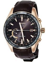 [アストロン]ASTRON 腕時計 ASTRON GPSソーラー電波 ワールドタイム機能 チタンモデル ダークブラウン文字盤 クロコダイル革バンド SBXB096 メンズ