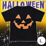 パンプキンブラックTシャツ L (トップス) ハロウィン コスプレ コスチューム