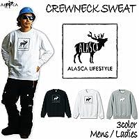 ALASCA クルーネック スウェット スノーボード CREWNECK SWEAT トレーナー moose2 2016-17 スノボー ウェア スノボ  裏毛 メンズ レディース