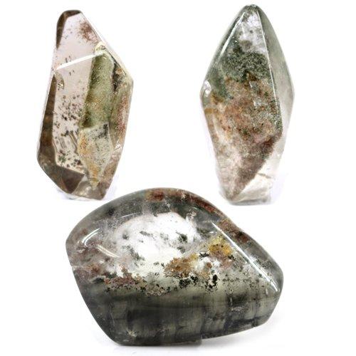[해외]3 종 세트 가든 쿼츠 (정원 결정) 공중제비 형 연마 돌 置石 [천연석 파워 스톤 액세서리]/3-piece set Garden quartz (garden crystal) Tumble type abrasive stone stone [natural stone power stone accessory]