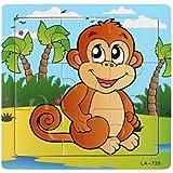 パズルのおもちゃ、JACKY子供キッズモンキー木製ジグソーパズル学習パズルのおもちゃ