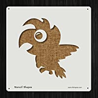 Parrot動物Beak Bird Featherスタイル15217DIYプラスチックステンシルアクリルMylar再利用可能な