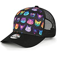 Odelia Walter Unisex Cute Cat Dad Hat Mesh Trucker Hats Baseball Cap Adjustable