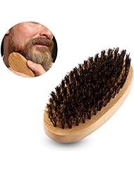 男性ナチュラルフェイクイノシシ剛毛ウッドハンドルミリタリーポケット口ひげひげグルーミングくしブラシ