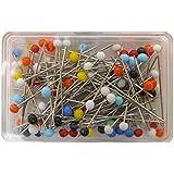 Plastic Headed Pins (100Pcs)