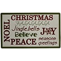 Y&K Decor Christmas Greeting Printing Door Mat Ship from US [並行輸入品]